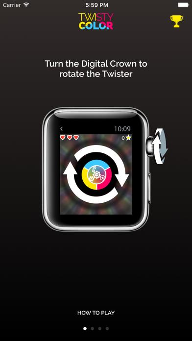 Twisty Color for Apple Watch iPhone Screenshot