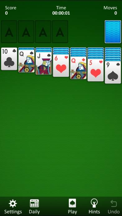 Classic Solitaire! iPhone Screenshot