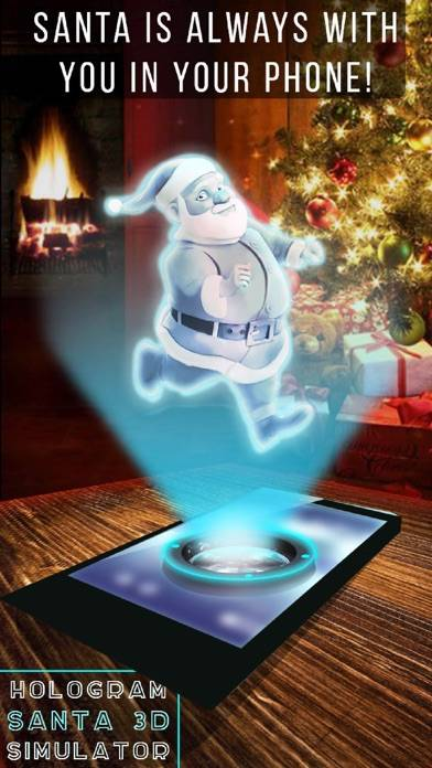 Hologram Santa 3D Simulator iPhone Screenshot