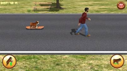 Bulldog on Skateboard 3D iPhone Screenshot