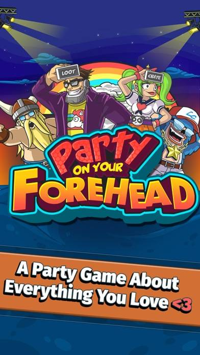 Word Gush: Party On Your Forehead! iPhone Screenshot