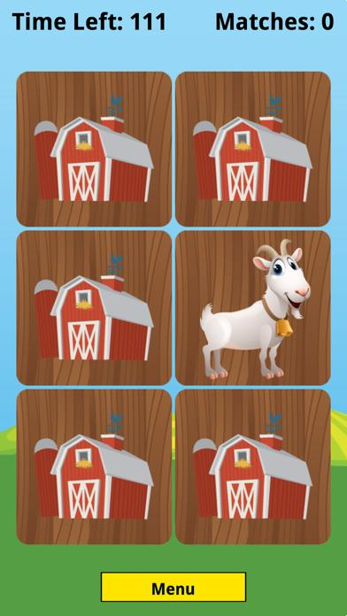 Farm Animal Picture Match iPhone Screenshot