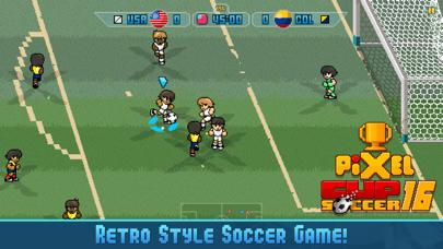Pixel Cup Soccer 16 iPhone Screenshot
