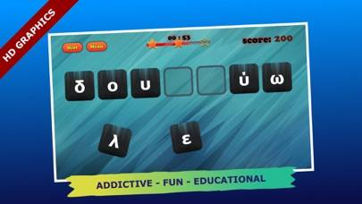 Anagrams Pro Greek Edition iPhone Screenshot
