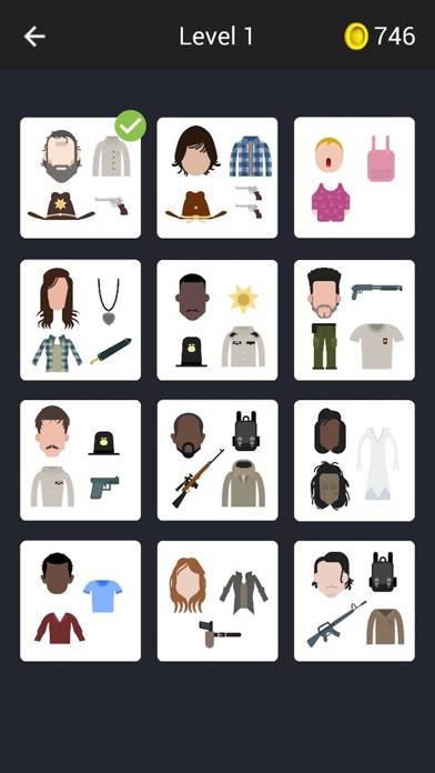 Guess The Characters for Walking Dead iPhone Screenshot