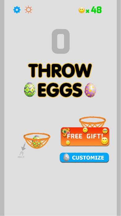Throw Eggs into Basket iOS