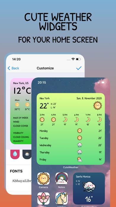 CuteWeather: app plus widgets