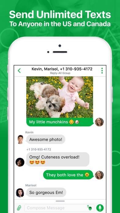 textPlus Free Texting plus Free Messenger screenshot 1
