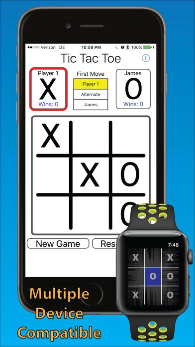 Tic Tac Toe 3-in-a-row iPhone Screenshot