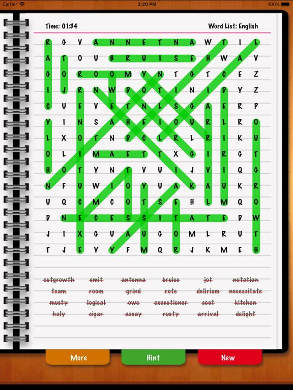 WordSearch Unlimited HD iPhone Screenshot