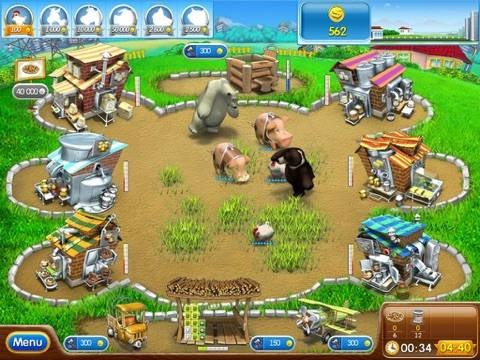 Farm Frenzy 2: Pizza Party HD iPhone Screenshot