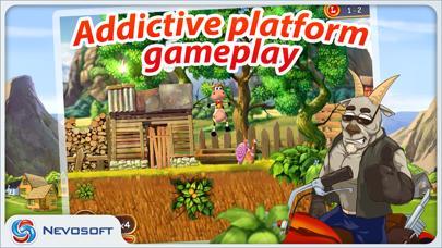 Supercow: funny farm arcade platformer Lite screenshot 1