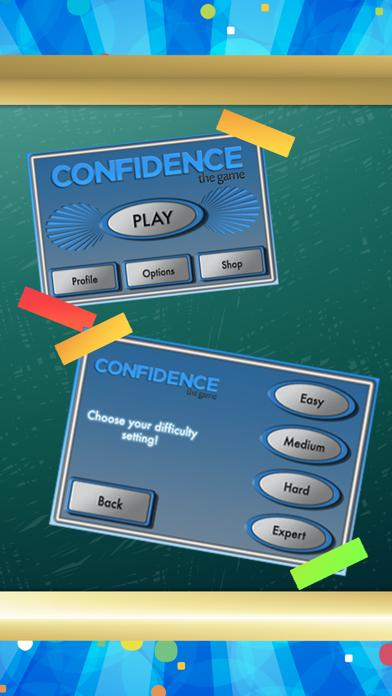 Confidence: The Game iPhone Screenshot