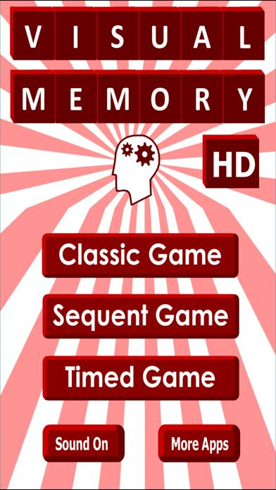 Visual Memory Game HD iPhone Screenshot