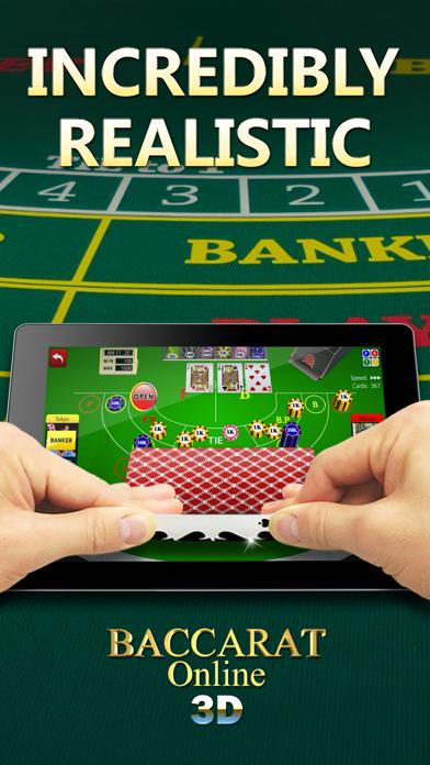 Baccarat Online 3D iPhone Screenshot