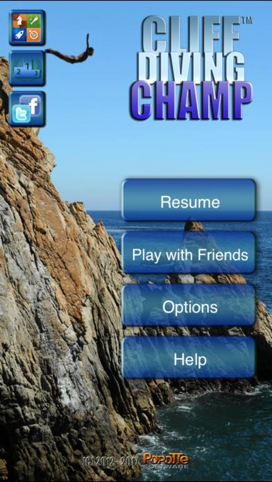 Cliff Diving Champ iPhone Screenshot