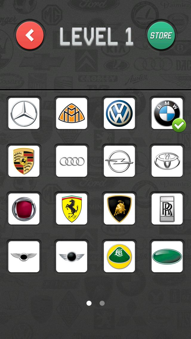 Car Brands Quiz iPhone Screenshot