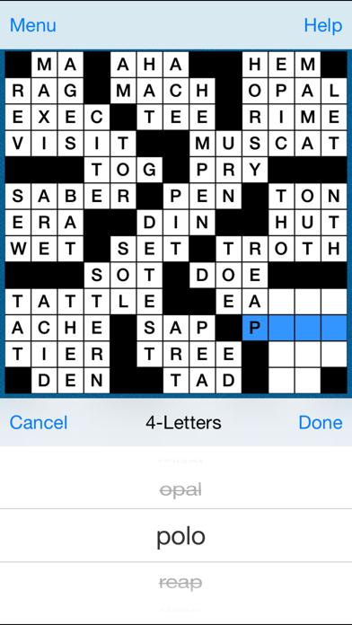 Crossword Fill-In Puzzle iPhone Screenshot