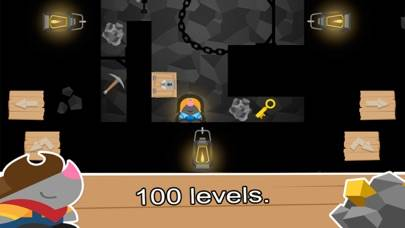 Moe Miner: fun action puzzle game iPhone Screenshot
