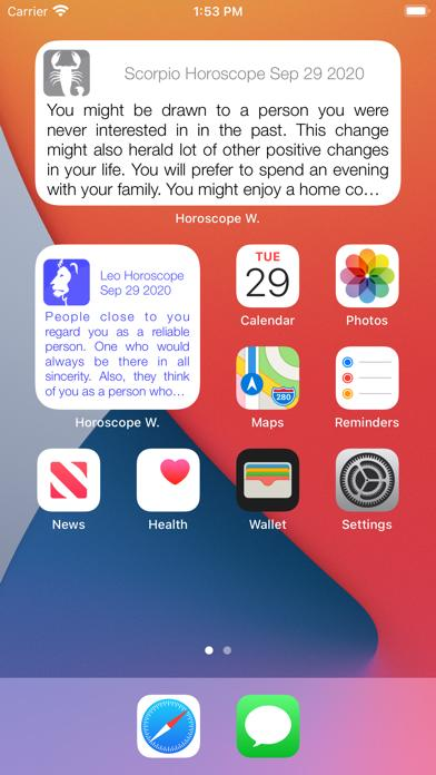 Horoscope Widget iOS