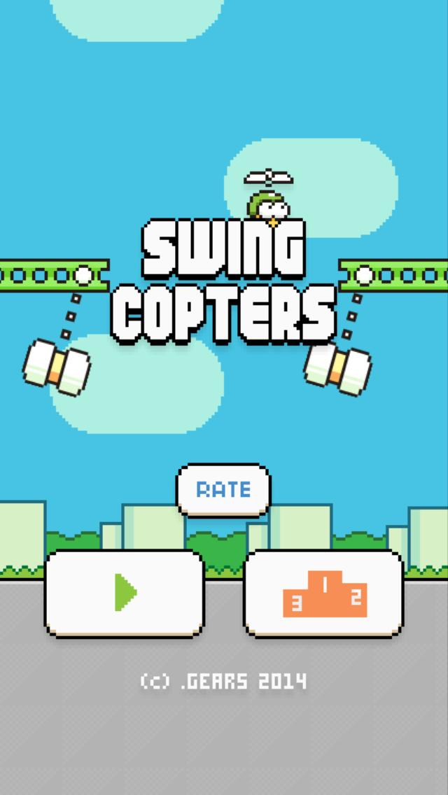 Swing Copters iPhone Screenshot