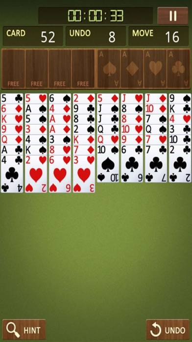 Freecell Solitaire king iPhone Screenshot