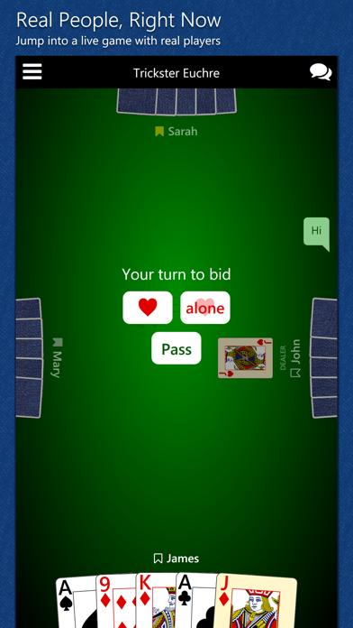 Trickster Euchre iPhone Screenshot