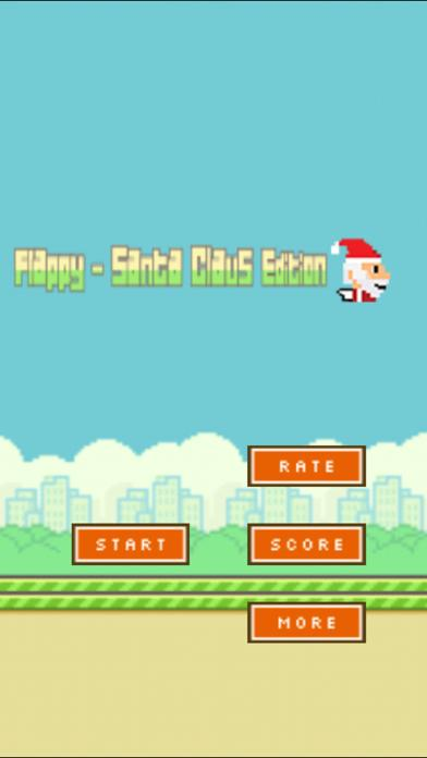 Aaaaaah! Flappy Santa iPhone Screenshot