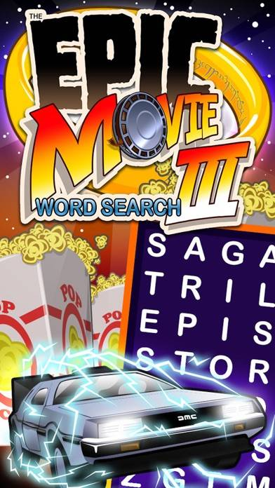 Epic Movie Word Search 3 iPhone Screenshot
