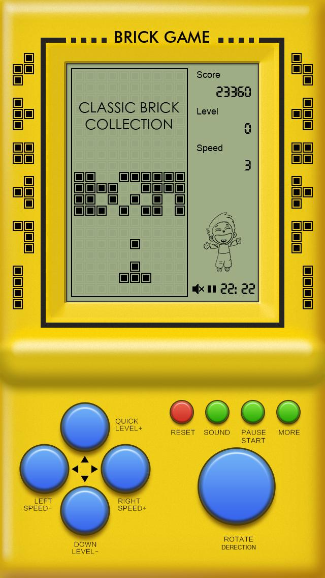 Classic Brick Game Collection iPhone Screenshot
