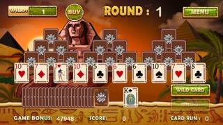 Ancient Egyptian Tri Tower Pyramid Solitaire iPhone Screenshot