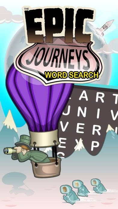 Epic Journeys Word Search iPhone Screenshot