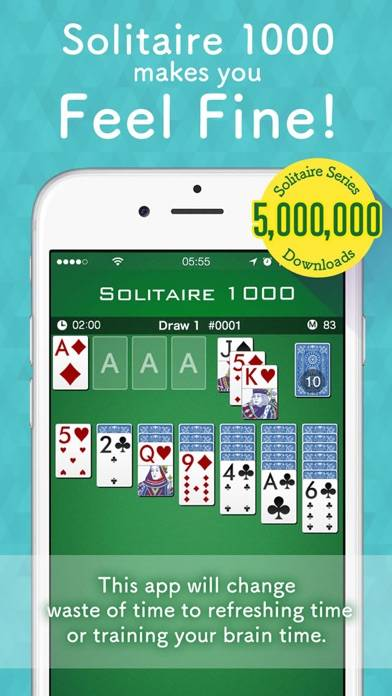 Solitaire 1000 iPhone Screenshot