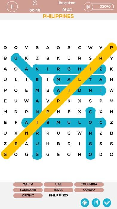 Word Search Puzzle Pack iPhone Screenshot