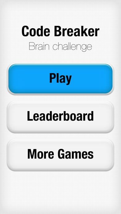 Code Breaker Brain Challenge iPhone Screenshot