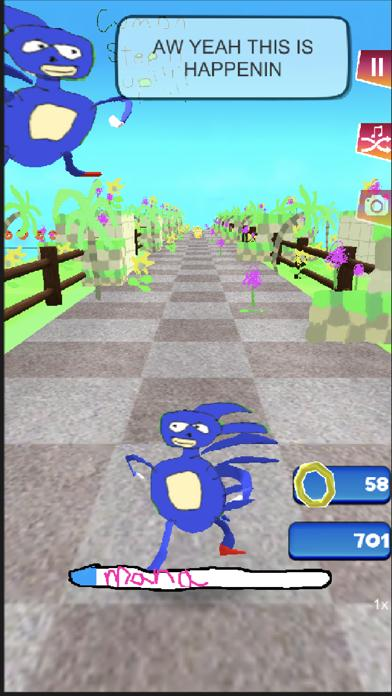 Go Sanic Goo! MLG iPhone Screenshot