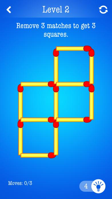 Matchsticks ~ Free Puzzle Game iPhone Screenshot
