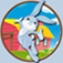 Lovely rabbits for kids app icon