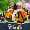 Venn Butterflies: Overlapping Jigsaw Puzzles iOS Icon