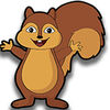 Squirrels on the road iOS Icon
