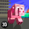 Blockhead Pig City Rampage 3D Full app icon