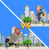 Clinton vs Trump on the run iOS Icon