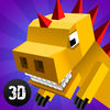 Cube Dino City Rampage 3D Full app icon
