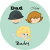 Mom Dad Baby TTT iOS Icon