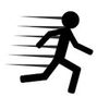 Running and Jumping iOS Icon