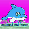 Swimming Cute Whale icon
