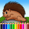 Porcupine Coloring Book Games Animal Education App