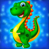 Dinosaur swap puzzle icon