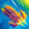 Galaxy Space Zigzag Adventure App Icon