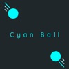 Cyan Ball Bounce to the top